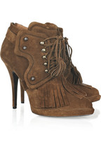 Givenchy Tassel lace-up suede ankle boots