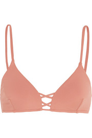 Melissa Odabash Sardinia lace-up bikini top