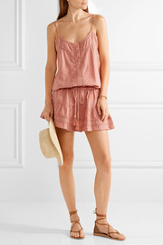 Melissa Odabash Karen crochet-trimmed cotton mini dress