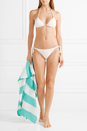 Melissa Odabash Key West crocheted triangle bikini top