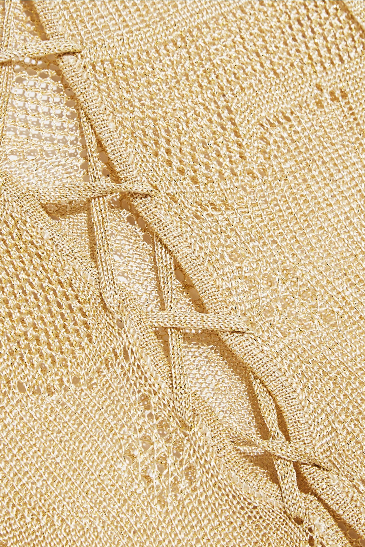 Melissa Odabash Giselle metallic crochet-knit maxi dress
