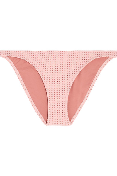 Melissa Odabash - Aruba Perforated Bikini Briefs - Blush