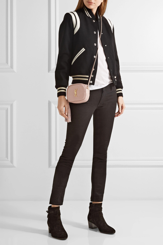SAINT LAURENT Sac porté épaule en cuir Monogramme Blogger