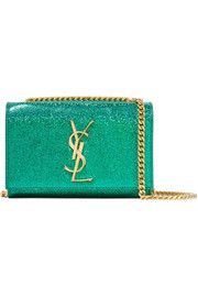 Saint Laurent Monogramme Kate small glittered leather shoulder bag
