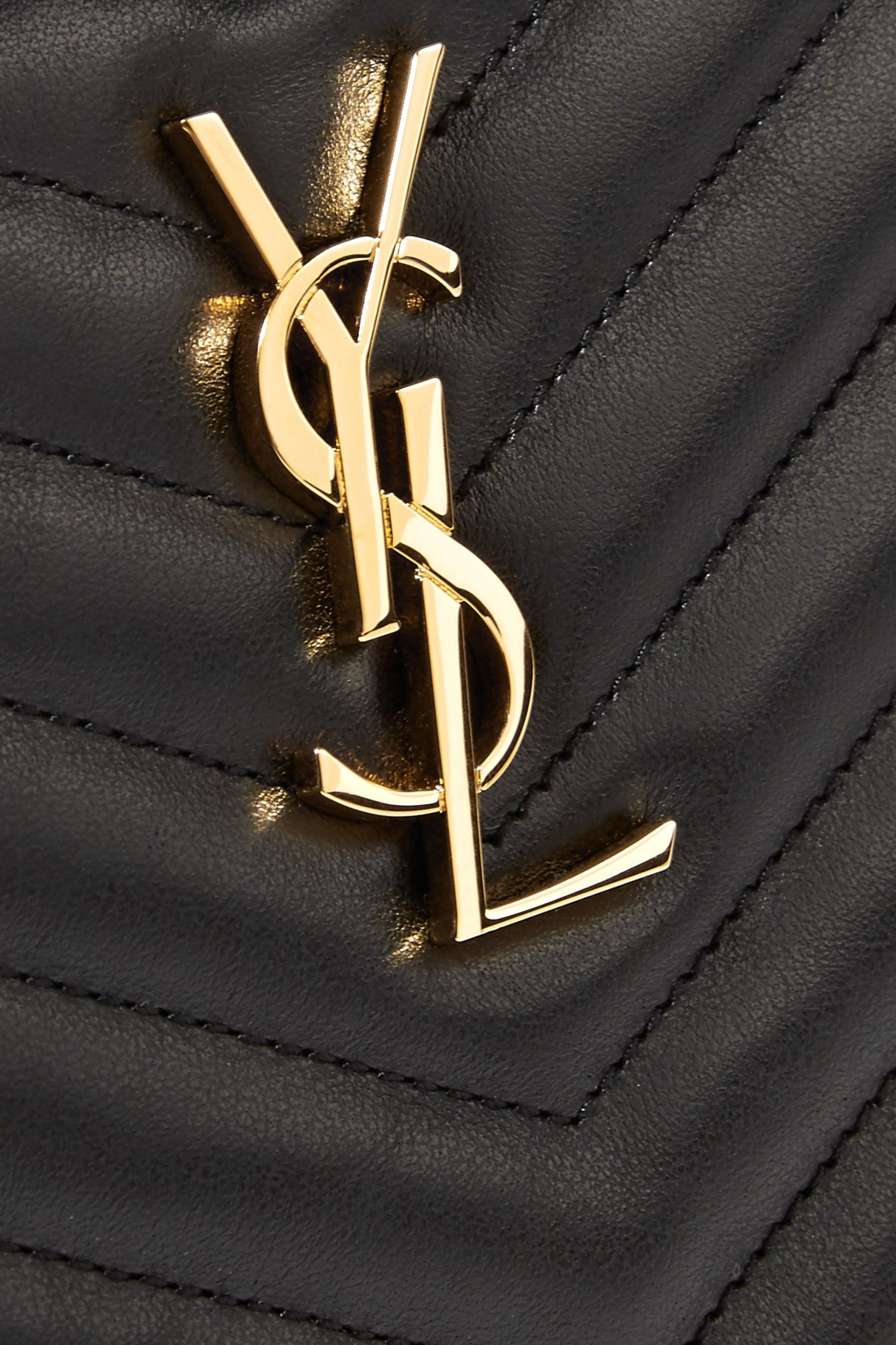 SAINT LAURENT Monogramme quilted leather pouch