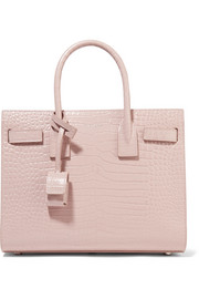 Saint Laurent Sac De Jour Baby croc-effect leather tote