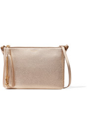 Monogramme Teen metallic textured-leather shoulder bag