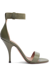 Retra suede-trimmed leather sandals