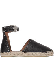Givenchy Studded textured-leather espadrilles