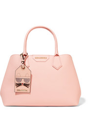 Karl Lagerfeld Lady Shopper textured-leather tote