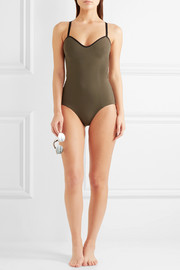 Delrey reversible perforated swimsuit