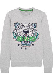KENZO Icon embroidered cotton-jersey sweatshirt
