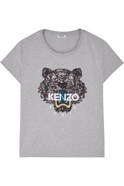 KENZO Icon embroidered cotton-jersey T-shirt