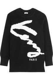 KENZO Intarsia cotton-blend sweater