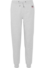 KENZO Appliquéd French cotton-terry track pants