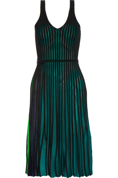 KENZO - Ribbed Stretch-knit Dress - Green