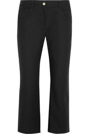 KENZO Cropped stretch-cotton flared pants