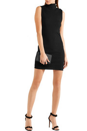 Balmain Ribbed stretch-knit mini dress