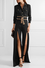 Balmain Stretch-knit wide-leg pants