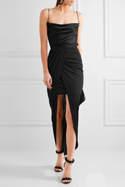 Balmain Wrap-effect jersey skirt
