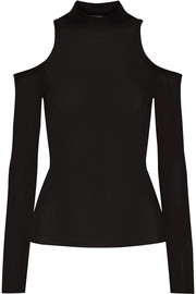 Balmain Cutout stretch-jersey top