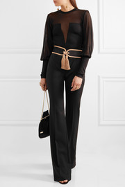 Balmain Paneled stretch-knit bodysuit
