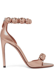 Alaïa Studded metallic leather sandals