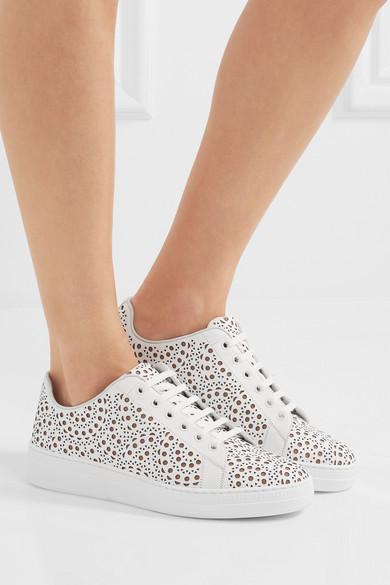 Alaïa Sneakers aus lasergeschnittenem Leder