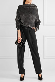 Manon washed-silk pants