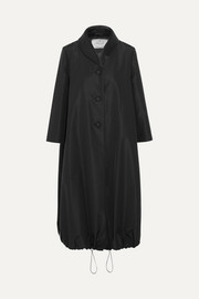 Satin-trimmed silk-taffeta coat
