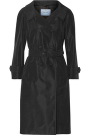 Prada Silk-faille trench coat