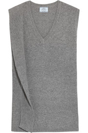 Draped wool and cashmere-blend sweater