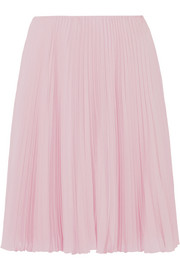 Prada Pleated crepe de chine skirt