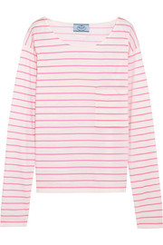 Prada Striped cotton-jersey top