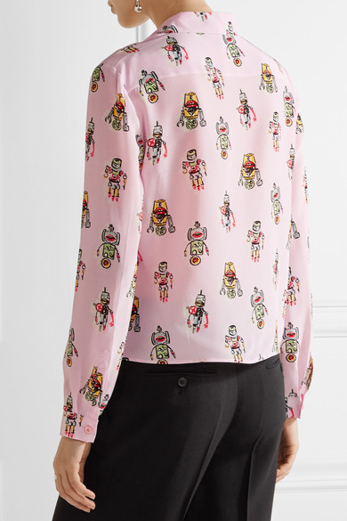 Low Price Fee Shipping Prada printed silk blouse Cheap Sale Best Seller Footaction Sale Online Outlet Get Authentic 0yKPvsg
