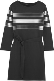 Esther striped cotton-jersey mini dress