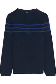 A.P.C. Atelier de Production et de Création Striped knitted top