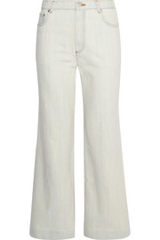 Sailor cropped high-rise wide-leg jeans