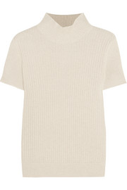 Mina ribbed cotton and linen-blend sweater