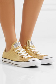 Converse Chuck Taylor All Star metallic snake-effect leather sneakers