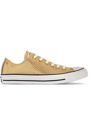 Chuck Taylor All Star metallic snake-effect leather sneakers
