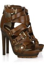 Michael Kors Strappy buckled leather sandals