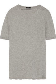 Cutout organic cotton-jersey T-shirt