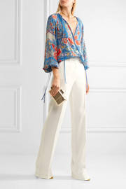 Stretch-crepe straight-leg pants