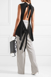 Marni Tie-back crepe top