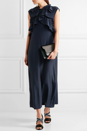 Marni Ruffled crepe de chine maxi dress