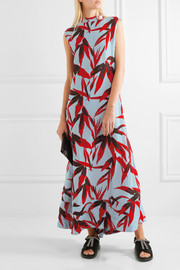 Marni Open-back printed crepe maxi dress