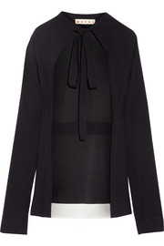 Marni Tie-front crepe top