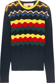 Marni Pointelle-knit cotton-blend sweater