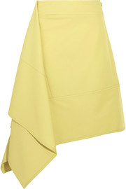 Marni Asymmetric paneled twill skirt